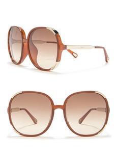 Chloé 61mm Oversized Sunglasses