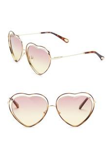 61MM Poppy Love Heart Sunglasses