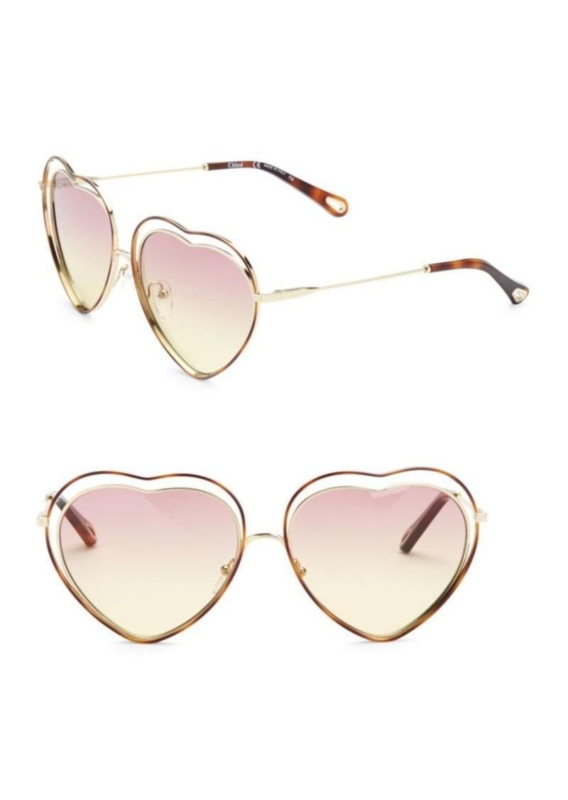 1ff079e4ae SALE! Chloé 61MM Poppy Love Heart Sunglasses