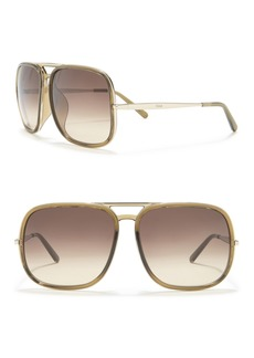 Chloé 62mm Navigator Sunglasses
