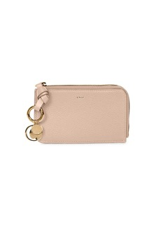 Chloé Alphabet Leather Zip-Around Wallet