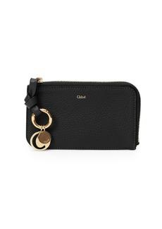 Chloé Alphabet Zip Leather Wallet