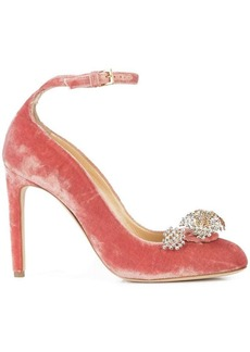 Chloé ankle strap embellished pumps