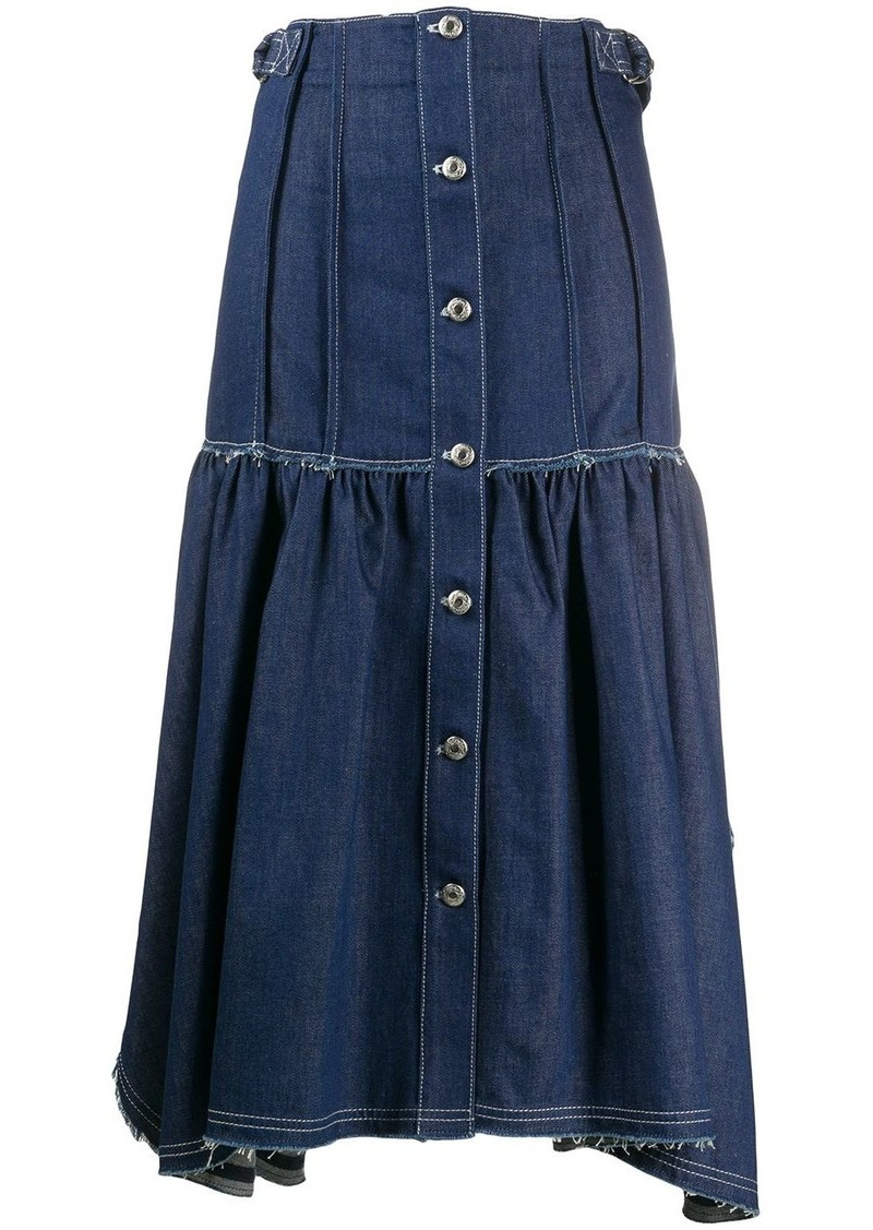 Chloé asymmetric denim skirt