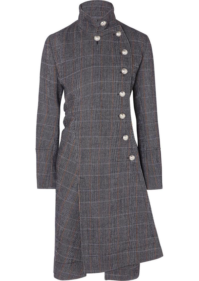 Chloé Asymmetric Double-breasted Wool-blend Coat