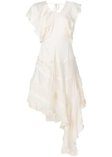 Chloé asymmetric lace-trimmed dress