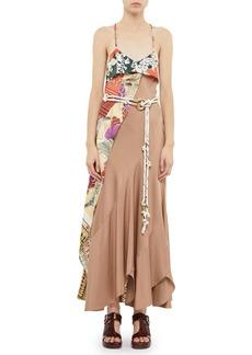 Chloé Asymmetric Silk Maxi Dress