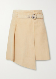 Chloé Asymmetric Suede Mini Skirt