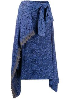 Chloé asymmetric wrap midi skirt