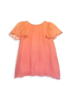 Chloé Baby's & Little Girl's Flutter-Sleeve Silk Ombre Dress
