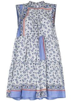 Chloé Bandana print tiered mini dress