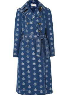 Chloé Belted Cotton-jacquard Trench Coat