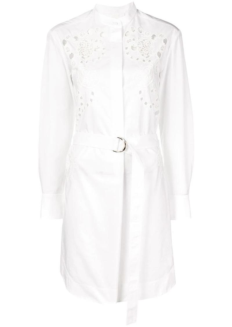 Chloé belted shirt dress