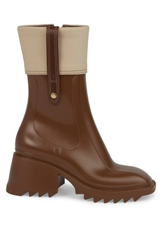 Chloé Betty Canvas-Trimmed PVC Rain Boots