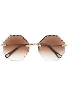 Chloé bevelled edgeframe sunglasses