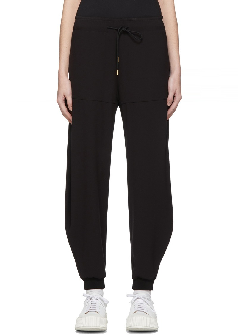 Chloé Black Crepe Loose Lounge Pants