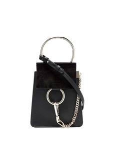 Chloé black Faye small leather bracelet bag