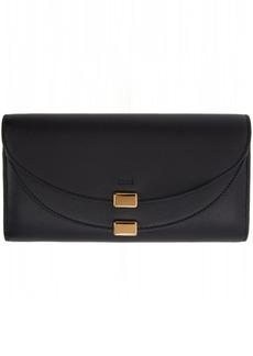Chloé Black Georgia Long Flap Wallet