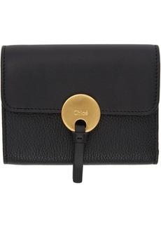 Chloé Black Indy Compact Wallet