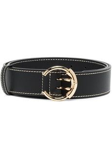 Chloé Black logo buckle leather belt