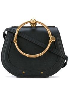 Chloé black Nile mini leather bracelet bag