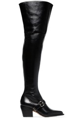Chloé black over the knee 80 leather boots