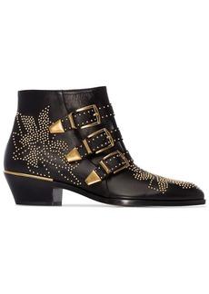 Chloé black Susanna 30 Studded Ankle Boots