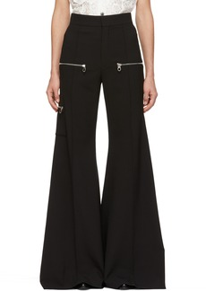 Chloé Black Wool Bellbottom Trousers