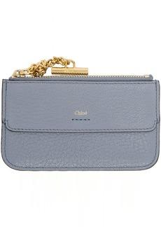Chloé Blue Drew Zip Card Holder