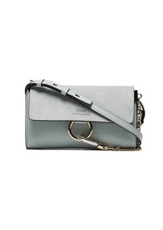 Chloé Blue Faye Leather Wallet Bag