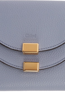 Chloé Blue Square Georgia Flap Wallet