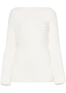 Chloé Boat Neck Ribbed Jumper
