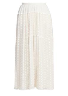 Chloé Broderie Anglaise Midi Skirt