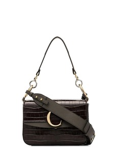 Chloé brown C ring small leather shoulder bag