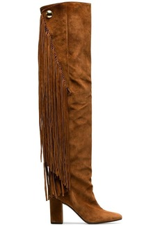 Chloé Brown Qaisha 90 Suede Thigh Boots