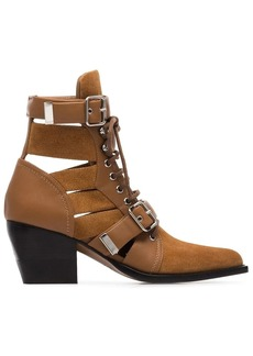 Chloé brown Rylee 60 buckled suede boots