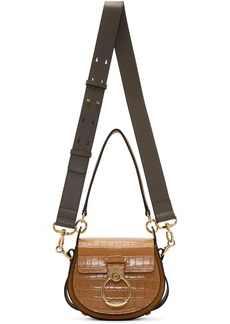 Chloé Brown Small Croc Tess Bag
