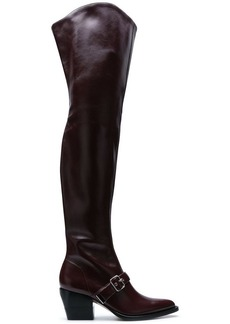Chloé buckle over-the-knee boots