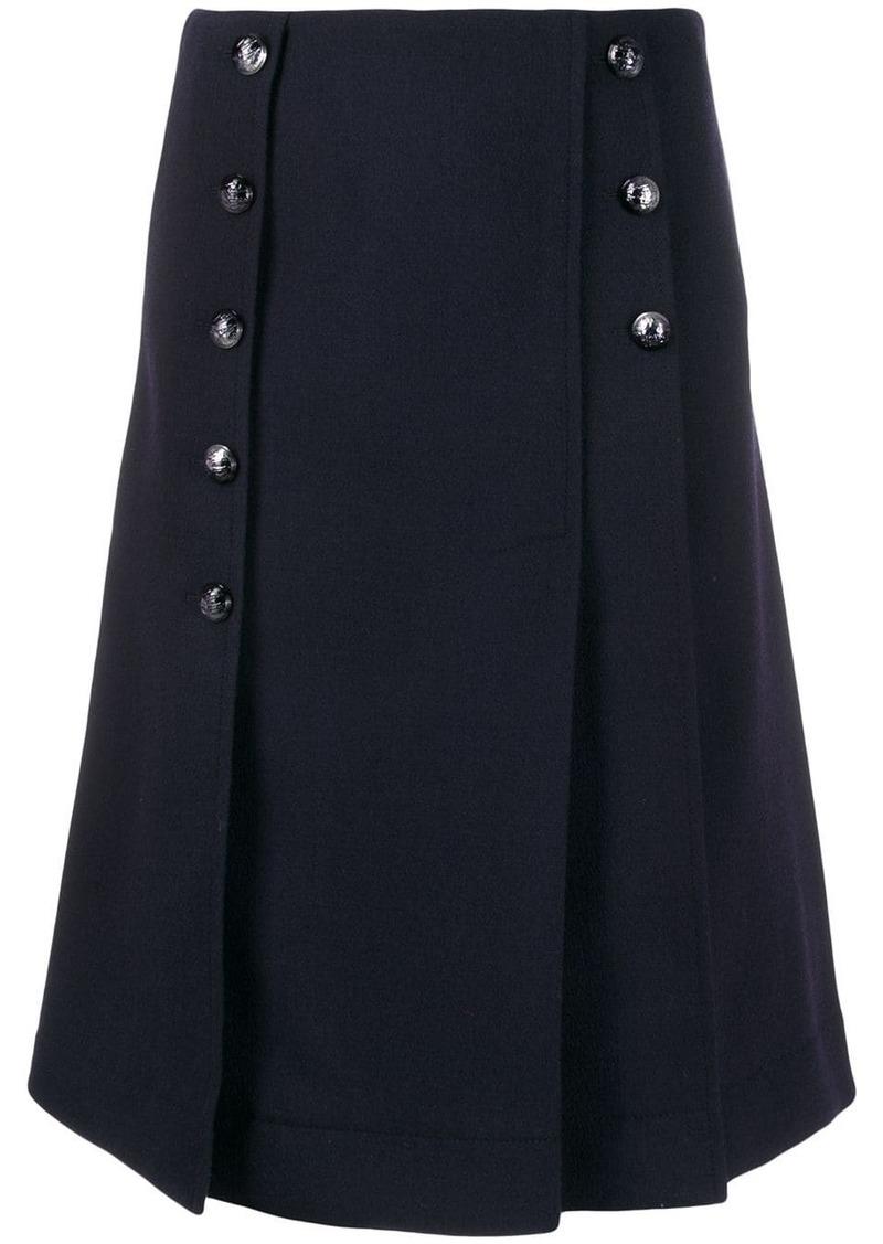 Chloé buttoned kilt skirt