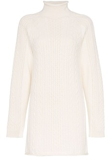 Chloé cable-knit long-line sweater
