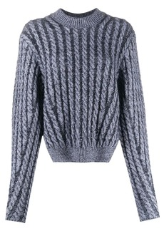 Chloé cable-knit side-slit jumper