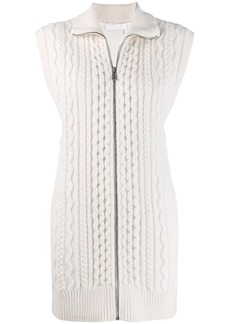 Chloé cable knit sleeveless cardigan