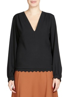 Chloé Cady Scalloped Blouse