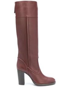 Chloé calf-length leather boots