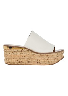 Chloé Camille Leather Wedge Slides