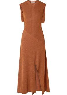 Chloé Cape-effect Knitted Midi Dress