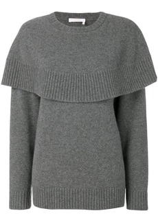 Chloé cape knitted sweater
