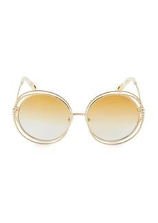 Chloé Carlina Chain 58MM Round Sunglasses