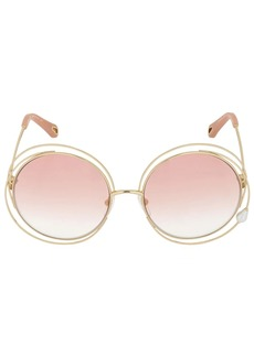 Chloé Carlina Double Round Metal Sunglasses