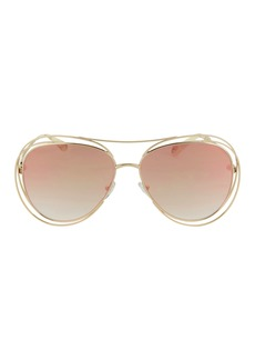 Chloé Carlina Wire Round Sunglasses